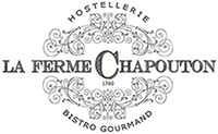 logo du bistronomique La Ferme Chapouton awarded Bib Gourmand in the provencal village of Grignan